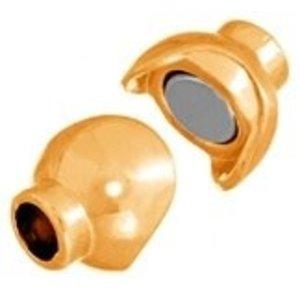 John Bead Corporation . JBC Magnetic Clasp 14.5 X 10 mm Gold Ball