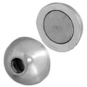 John Bead Corporation . JBC Magnetic Clasp Ball 11 mm Silver