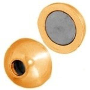 John Bead Corporation . JBC Magnetic Clasp Ball 11 mm Gold