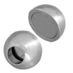 John Bead Corporation . JBC Magnetic Clasp Ball 13 mm Silver