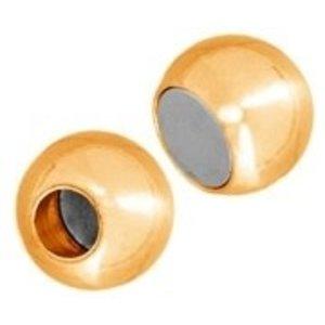 John Bead Corporation . JBC Magnetic Clasp Ball 18 X 11.5 Gold