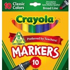 Crayola . CRY Classic Broad Markers 10 Pieces Art Kit Calgary