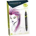 Sanford/Newll/Berol . SAF 6 Pack Prismacolor Brush Marker Set Art Kit Calgary