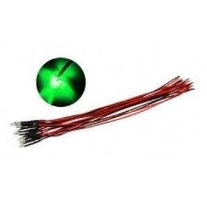 Common Sense R/C . CSR PRE WIRED 3MM GREEN LED 10PK