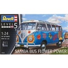 Revell Monogram . RMX 1/24 VW T1 Samba Bus Flower Power