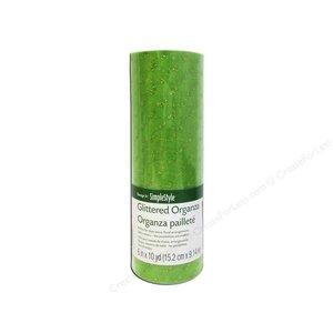 Floracraft . FLC (DISC) - Organza - Glitter Dot - Light Green