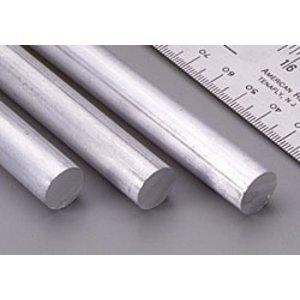 """K&S Engineering . K+S Solid Alum Rod 12""""X 1/2"""