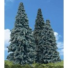 "Woodland Scenics . WOO BLUE NEEDLE TREES 3.5""- 5.5"""