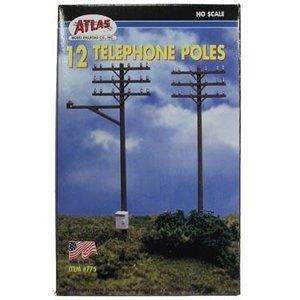 Atlas Model Railroad Co . ATL HO TELEPHONE POLES