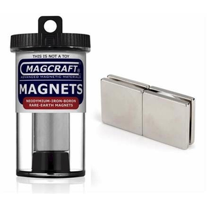 Magcraft Magnets . MFM 1X1X1/8 RARE EARTH BLOK MAG