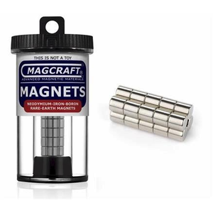 Magcraft Magnets . MFM 1/4X1/4 RARE EARTH ROD MAGNET