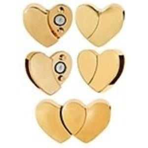 John Bead Corporation . JBC Magnetic Clasp - Gold Plated Heart