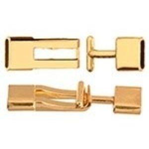 John Bead Corporation . JBC Toggle Flat 7.5 X 12.5 mm Gold