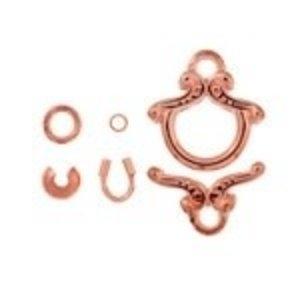 John Bead Corporation . JBC Toggle Fancy Copper 2 Sets