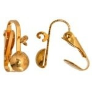 John Bead Corporation . JBC Earring Clip-on Ball Ring 6.5 mm Gold