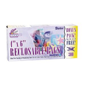 Darice . DAR 4 X 6 Recloseable Bags 300 pcs