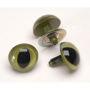 Darice . DAR 15mm Cat Eye Green (2)