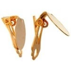 John Bead Corporation . JBC Earring Clip-on Flat 14 mm Gold