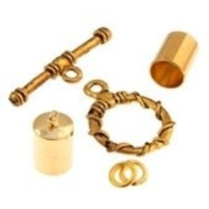 John Bead Corporation . JBC Kumihimo Findings Kit Gold 7 mm