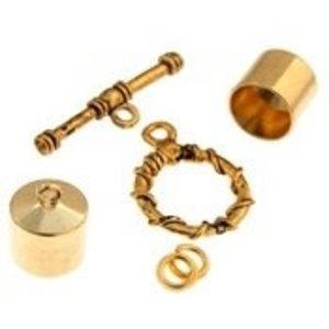 John Bead Corporation . JBC Kumihimo Findings Kit Gold 10 mm