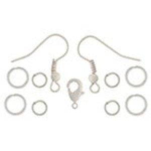 John Bead Corporation . JBC Earrings Jump Rings 9.5 mm White