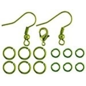 John Bead Corporation . JBC Earrings Jump Rings 9.5 mm Lime Green
