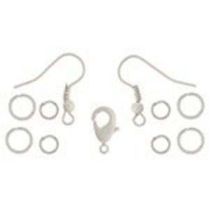 John Bead Corporation . JBC Earrings Jump Rings 12.5 mm White