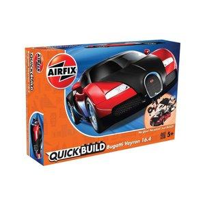 Airfix . ARX Quick Build Bugatti Veyron Black & Red