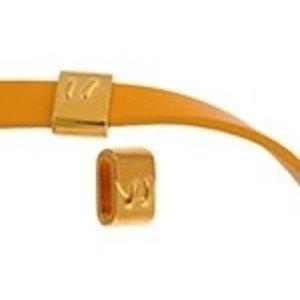 John Bead Corporation . JBC Slider Tube Stitch Latch - Gold Tone