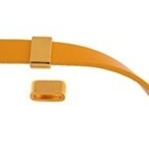 John Bead Corporation . JBC Slider Tube Smooth - Gold Tone