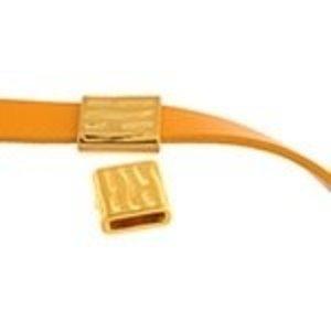 John Bead Corporation . JBC Slider Tube Walnut Pattern - Gold Tone