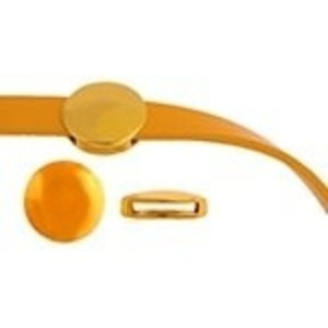 John Bead Corporation . JBC Slider Round - Gold Tone