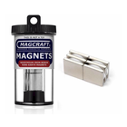 "Magcraft Magnets . MFM 0.75"" X 0.75"" X 0.125"" Rare Earth Block Magnet (6)"