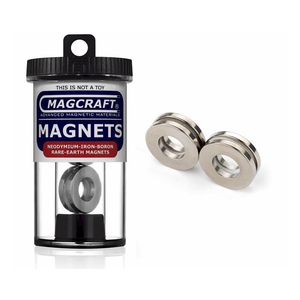 "Magcraft Magnets . MFM 1"" X 0.5"" X 0.125"" Rare Earth Ring Magnet (4)"