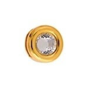 John Bead Corporation . JBC Slider Round with Crystal - Gold Tone