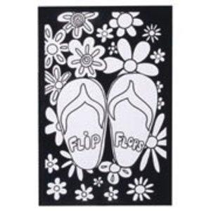 Darice . DAR (DISC) Velvet Poster Flip Flop 6X9
