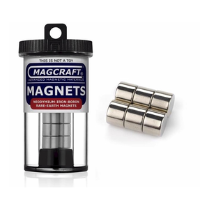 "Magcraft Magnets . MFM 0.5"" X 0.375"" Rare Earth Disc Magnet (6)"