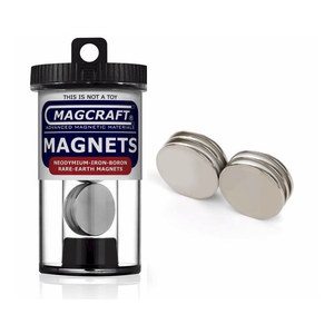"Magcraft Magnets . MFM 1"" X 0.0625"" Rare Earth Disc Magnet (6)"