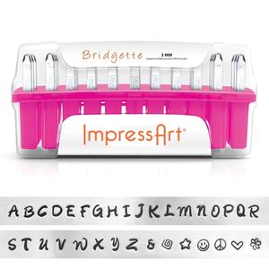 IMPressArt . IAD Impress Art - Uppercase Metal Stamp Set - Bridgette (Font)