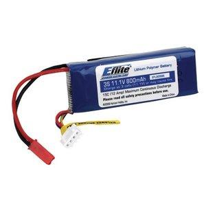 E Flite . EFL 11.1V15C 800MAH3S LIPO 20GA
