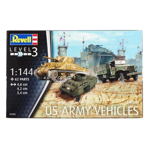 Revell of Germany . RVL 1/144 US ARMY VEH WWII
