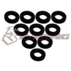 3 Racing . 3RC Alum M3 Flat Washer 1.0mm Blk