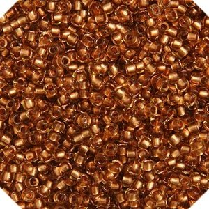 John Bead Corporation . JBC Seedbead 10/0 Topaz/Copper Line