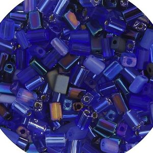 John Bead Corporation . JBC Tiny Flats Multi Blue Saphire