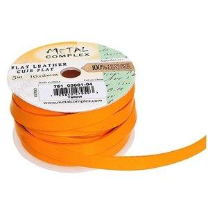 John Bead Corporation . JBC (DISC) - Flat Leather 10 X 2 mm Yellow