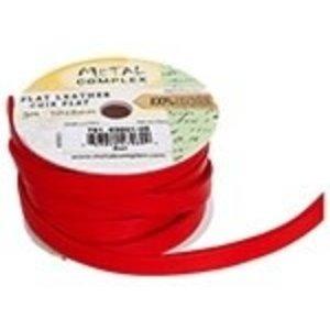 John Bead Corporation . JBC (DISC) - Flat Leather 10 X 2 mm Red