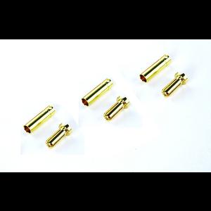 Common Sense R/C . CSR Bullet Connectors 4MM(3M,3F)