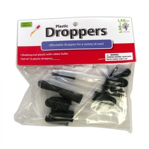"""American Educational Products . AEP DROPPERS 3"""" STRAIGHT PLASTIC (12)"""