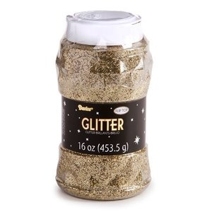 Darice . DAR (DISC) - Glitter - Gold 16 oz