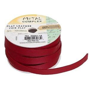John Bead Corporation . JBC (DISC) - Flat Leather Metallic Red